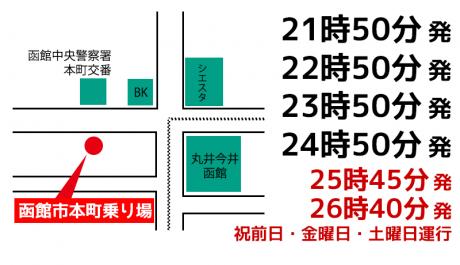 本町【五稜郭】乗車場所